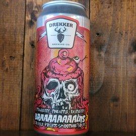 Drekker Braaaaaaaains - Strawberry, Pineapple, & Raspberry Smoothie Sour Ale, 7% ABV, 16oz Can