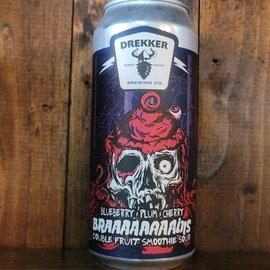 Drekker Braaaaaaaains - Blueberry, Plum Cherry Smoothie Sour Ale, 7.7% ABV, 16oz Can