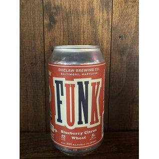 DuClaw Funk Wheat Ale, 5% ABV, 12oz Can