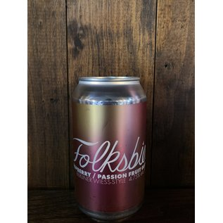 Folksbier Raspberry Passion Fruit Glow Up Sour Ale, 4.75% ABV, 12oz Can