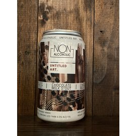 Untitled Art Non Alcoholic Chocolate Milk Stout, >0.5% ABV, 12oz Can