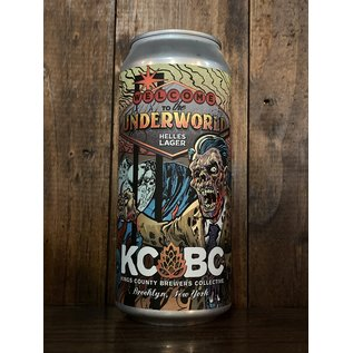 KCBC Welcome To The Underworld Helles Lager, 4.7% ABV, 16oz Can