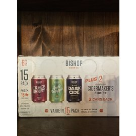Bishop Cider Variety Pack, 12oz Cans/15 Pack