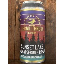 Hermit Thrush Sunset Lake (Grapefruit/Rosemary) Hard Seltzer, 4.5% ABV, 16oz Can