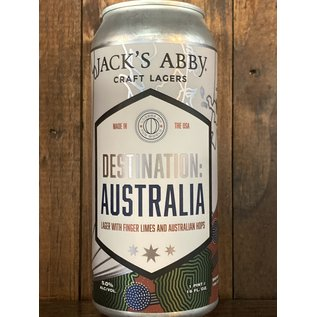 Jack's Abby Lagers of the World: Destination Australia Lager, 5% ABV, 16oz Can