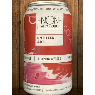 Untitled Art Non Alcoholic Florida Weisse Sour Ale, >0.5% ABV, 12oz Can