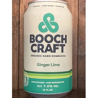 Boochcraft Ginger Lime Organic Hard Kombucha, 7% ABV, 12oz Can