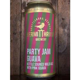 Hermit Thrush Party Jam Guava Sour Ale, 5.9% ABV, 16oz Can