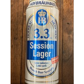 Hofbräu Session Lager, 3.3% ABV, 500ml Can
