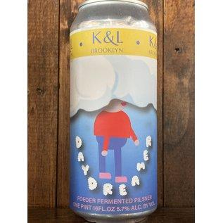 Keg & Lantern Foeder Daydreamer Pilsner, 5.7% ABV, 16oz Can