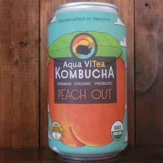 Aqua ViTea Peach Out Probiotic Kombucha, 12oz Can