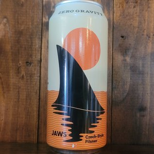 Zero Gravity Jaws Czech-Style Pilsner, 5.4% ABV, 16oz Can