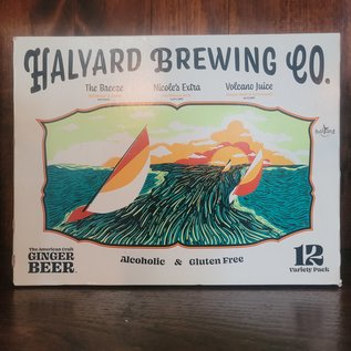 Halyard Alcoholic Ginger Beer, Variety 12 Pack