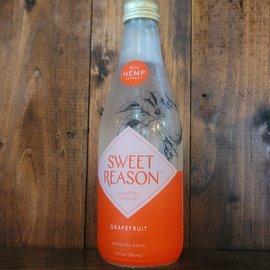 Sweet Reason Grapefruit Hemp-Infused Sparkling Water, 12oz Bottle