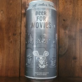 Off Color Beer For Movies Kolsch, 4.5% ABV, 16oz Can