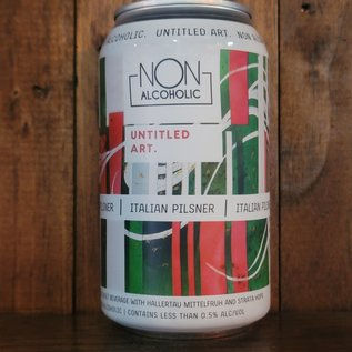 Untitled Art Non Alcoholic Italian Pilsner, less than 0.5% ABV, 12oz Can