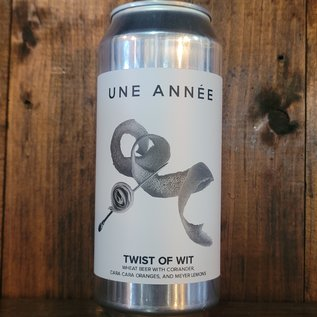 Une Annee Twist Of Wit Wheat Beer, 4.5% ABV, 16oz Can