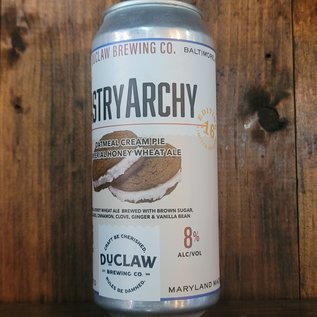 DuClaw The PastryArchy Oatmeal Cream Pie Imperial Honey Wheat Ale, 8% ABV, 16oz Can