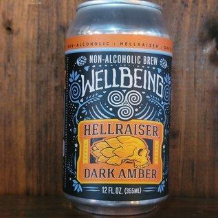 Wellbeing Hellraiser Dark Amber, less than 0.5% ABV, 12oz Can