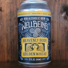 Wellbeing Heavenly Body Golden Wheat, less than 0.5% ABV, 12oz Can