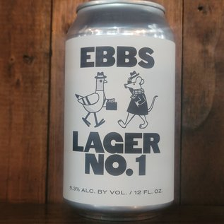 EBBS Lager No. 1, 5.3% ABV, 12oz Can