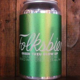 Folksbier Green Yuzu Glow Up Sour Ale, 4.5% ABV, 12oz Can