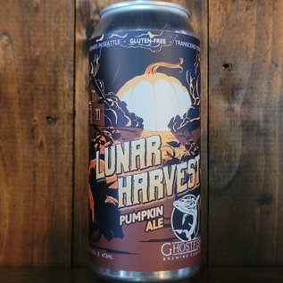 Ghostfish Lunar Harvest Gluten Free Pumpkin Ale, 5% ABV, 16oz Can