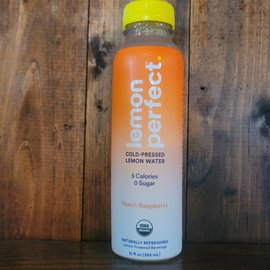 Lemon Perfect Peach Raspberry Lemon Water, 12oz Bottle