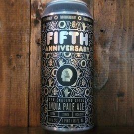 Thin Man Fifth Anniversary NE IPA, 6.6% ABV, 16oz Can