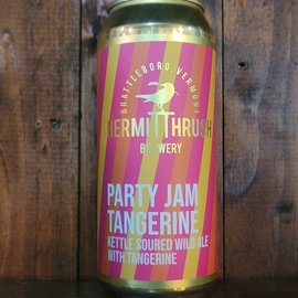 Hermit Thrush Party Jam Tangerine Sour Ale, 5.9% ABV, 16oz Can