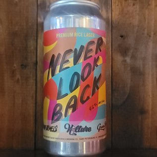 Green Bench/ Run The Jewels Never Look Back Rice Lager, 4.6% ABV, 16oz Can