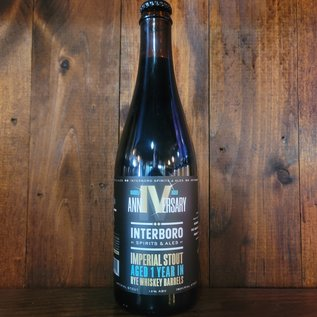 Interboro AnniVersary Stout - Rye Whiskey Barrel Aged, 12% ABV, 500ml Bottle