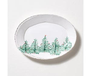 Vietri Lastra Holiday Small Oval Platter Lah 2625 Touch Of Class