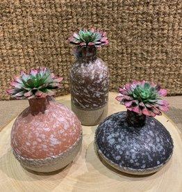 Stoneware Vase with Reactive Glaze