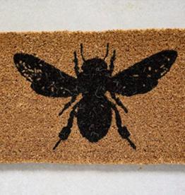 Natural Coir Doormat with Bee