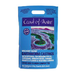 Coast of Maine Wiscasset Blend Earthworm Castings, 8 qt