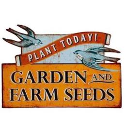 Vintage Garden & Farm Seeds Sign
