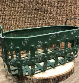 Green Metal Basket
