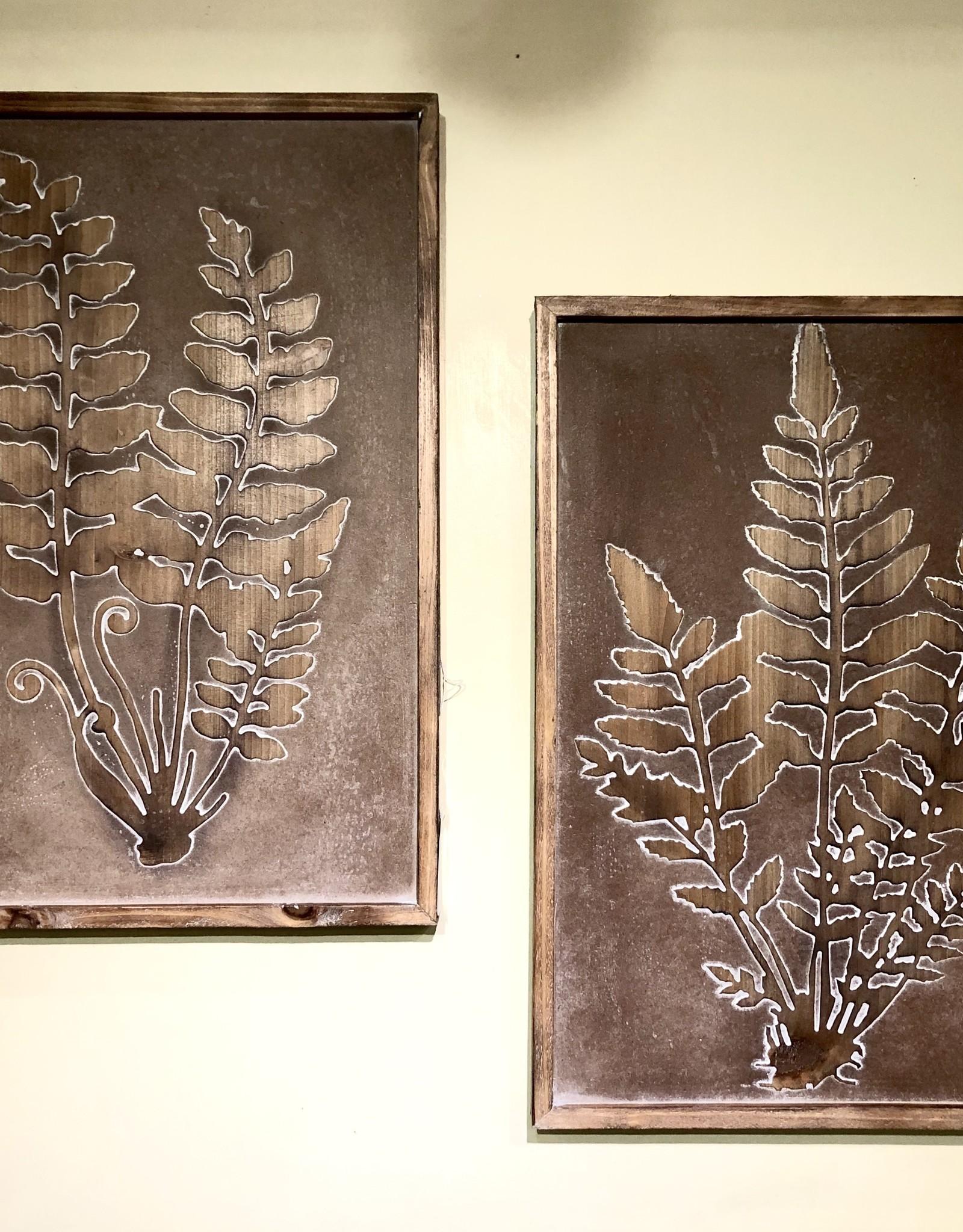 Rustic Fern Carving