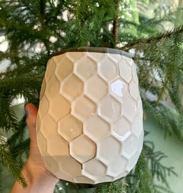 White Honeycomb Pot