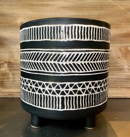 Black & White Footed Planter