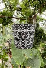 B&W Cement Hanging Pot