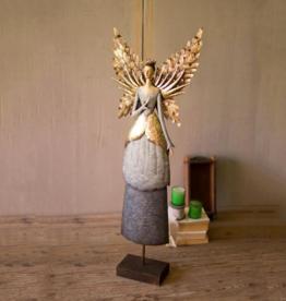 Painted Metal Angel