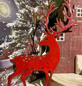 Red Reindeer Ornament
