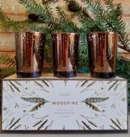 Woodfire Mini Candle Trio