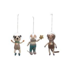 Wool Astronaut Animal Ornaments