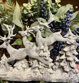 Reindeer in Flight Sculpture