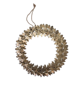 Metal Leaf Wreath, 12.5""
