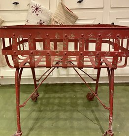 Vintage Red Cart w/ Wheels