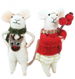 Felt Holiday Mouse